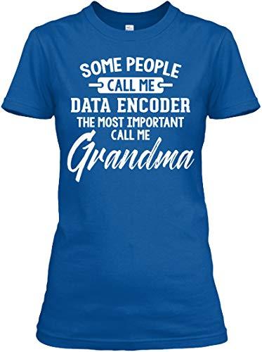 Gift for Data Encoder. L (10-12) - Royal Tshirt - Gildan Women's Relaxed Tee