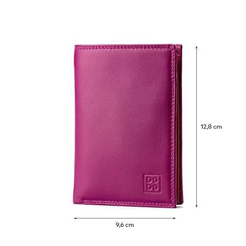 DUDU folding leather Fuchsia wallet zip Collection Tiberio Colorful colour with Man's multi by ~ model pqwzaxtf