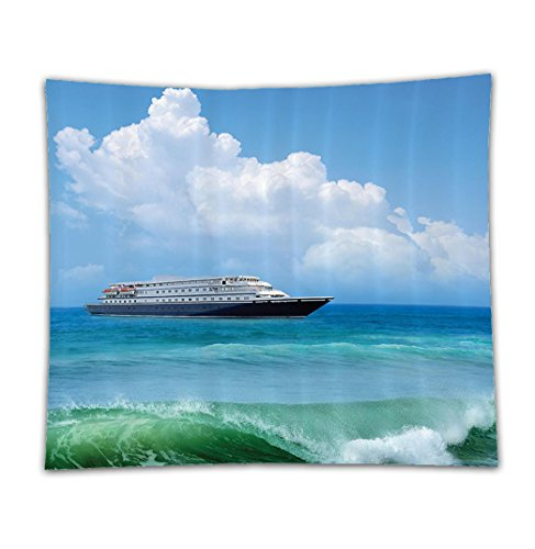 Aquatic Costume Themed (Beshowereb Fleece Throw Blanket Beshowereb Fleece Throw Blanket Beshowereb Fleece Throw Blanket Nautical Decor Set Traveling Themed View Of A Ship In The Aquatic World With Fluffy Clouds Day Time)