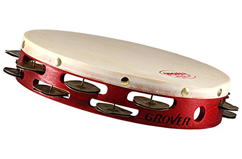 Grover Pro Projection-Plus Double-Row Heat Treated Silver Tambourine 10 in. by Grover Pro