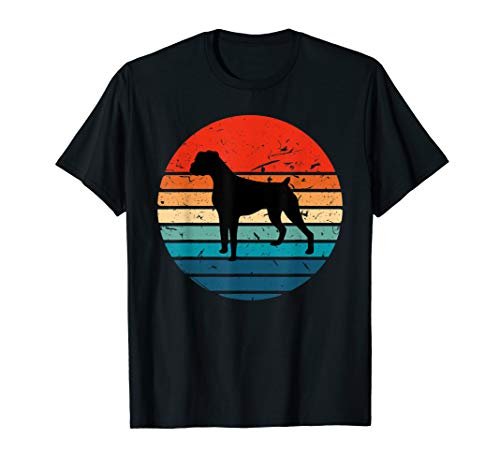 Boxer Dog Shirt Retro Vintage 70s 80s Silhouette Breed - Breed Gifts