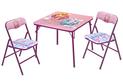 Nickelodeon Paw Patrol Skye & Everest Table & Chair Set (3 Piece) (Bright Color Folding Table)