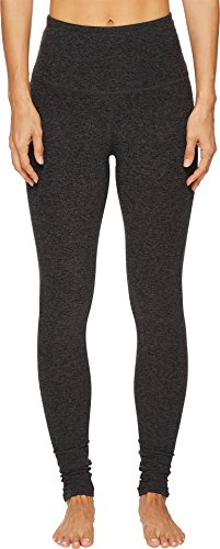 Beyond Yoga Women's High Waist Long Legging Black/Charcoal Spacedye Small