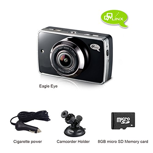 QQLinx Eagle Eye Dash Cam--Full HD 1080P,185 Wide Angle