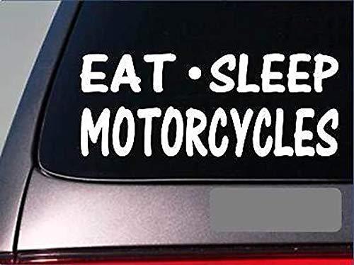 CELYCASY Eat Sleep calcomanía de Motocicleta G945 8 Pulgadas ...