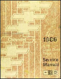 - 1986 Chevrolet S-10 Pickup & Blazer Repair Shop Manual Original