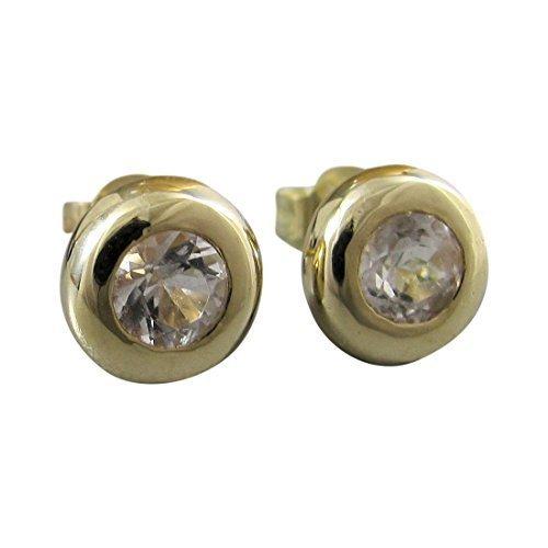 Michel de bijoux boucles d'oreilles Femme Or 585cristal de roche Total 1,0carats (3170)