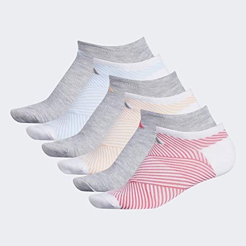 adidas Women's Adiangle Superlite No Show Socks (6-pair)
