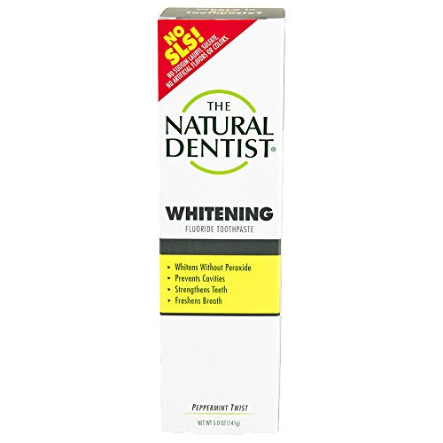(The Natural Dentist Healthy Teeth & Gums Whitening Plus Toothpaste, Peppermint Twist 5 oz (Pack of)