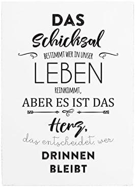 Interluxe 42x30cm Shabby Holzschild Das Schicksal Bestimmt Liebe Beziehung Spruch Herz Amazon De Kuche Haushalt