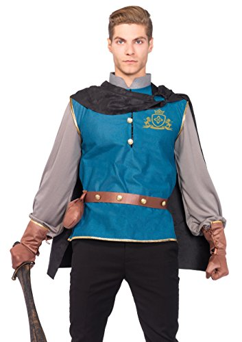 Leg Avenue Men's 4 Piece Storybook Prince Costume, Multi, (Storybook Prince Adult Mens Costumes)