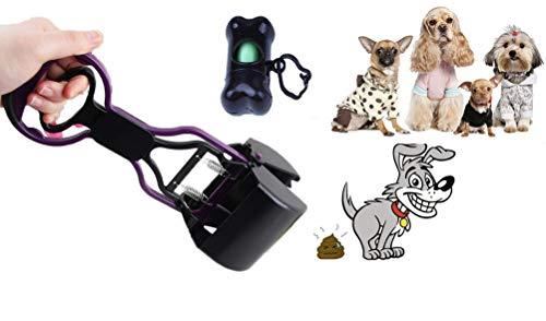 per-Scooper Pet Waste Pooper Scooper Cleaner + Bone-Shaped Waste Bag Dispenser & 1 Roll of Bag ()