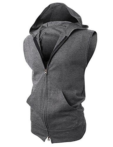 H2H Casual Lightweight Sleeveless Hoodies