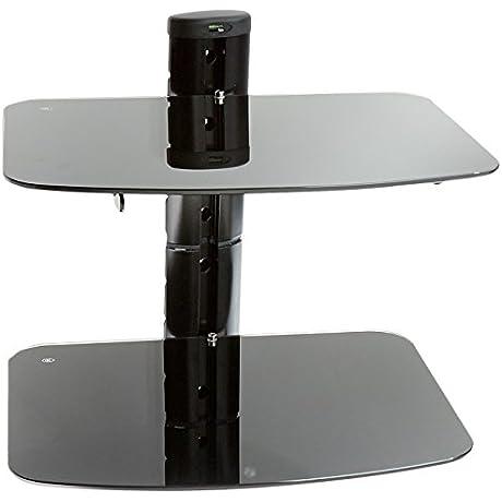 PEERLESS AV ESHV30 A V Wall Shelf With Glass Dual Shelves