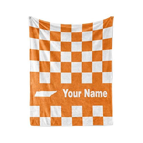 Personalized Corner University of Tennessee Volunteers Themed Custom Fleece Throw Blanket - Volunteer College Football Apparel for Men Women Kids (Baby/Pet ()
