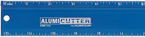 1316-9 Black 36 inches Aluminum Alumicolor Alumicutter Safety Ruler and Straight Edge