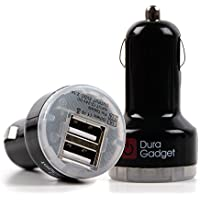 In-Car Travel Charger with Dual USB 2.0 Ports for the Stoga AC30 | Stoga Mbest STP01 - by DURAGADGET