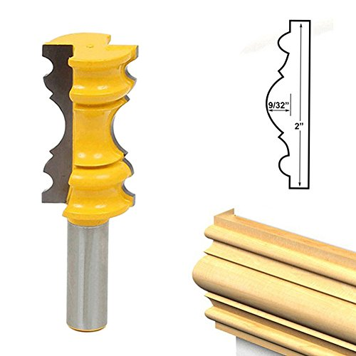 Milling Cutter - Woodworking Cutter Router Bit Set Cabinet Solid Wood Particle Board Cut 1 2 Inch Elaborate Chair - Machine Nail Milling Cutter Tools Wood Cutters Router -