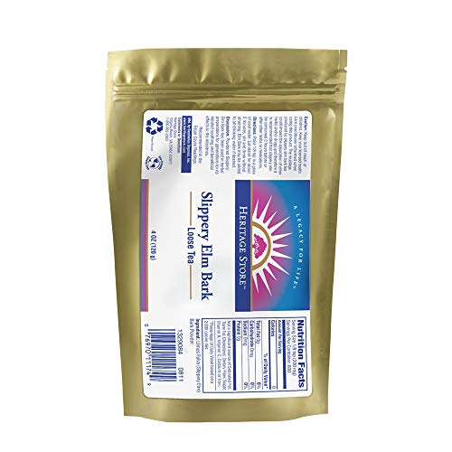 Slippery Elm Bark Organic Powder 4 oz by Heritage Products