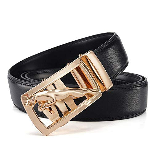 FidgetGear Fashion top quality Golden Leopard Mens Belts Black mens waistband size:S-9XL 2XL 40-42 Length 125cm