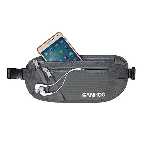 SanHoo RFID Blocking Money Belt - Waist Pouch -...