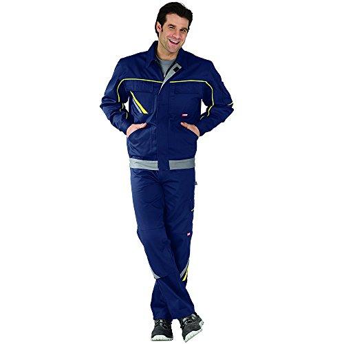 Planam 2413058 Visline V1 Blouson de travail Taille 58 en Bleu Marine/Jaune/Zinc