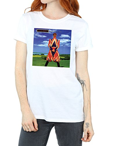 David Absolute Cover Novio Blanco Earthling Album Del Cult Bowie Mujer Camiseta Fit C5rwq75a