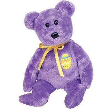 1a69724c309 Image Unavailable. Image not available for. Color  TY Beanie Baby - EGGS 3  the Purple Easter Bear ...