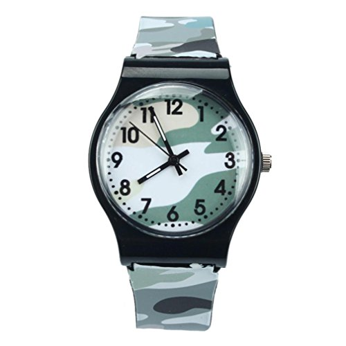 Price comparison product image START Camouflage Children Watch Quartz Wristwatch For Girls Boy-Gray