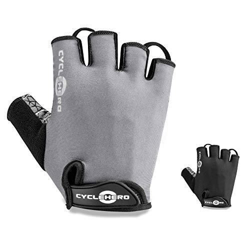CYCLEHERO Komfortable Fahrradhandschuhe (Lange & Kurze Version) MTB Handschuhe mit hochwertiger Polsterung und Ventilationslöchern (versch. Farben & Größen) Sporthandschuhe für Herren und Damen