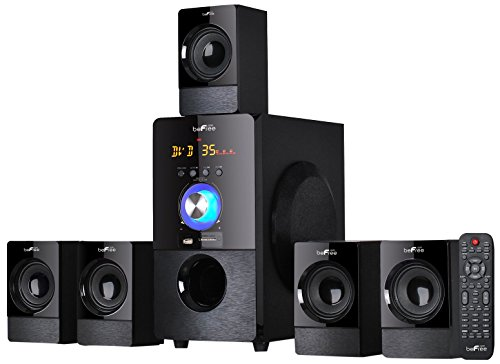 beFree Sound BFS-440 5.1 Channel Surround Bluetooth Speaker System - Black by BEFREE SOUND