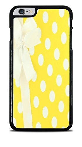 White and Yellow Polka Dots Wrapped Present With Bow Black Hardshell Case for iPhone 6S+ (5.5) by Debbie's Designs