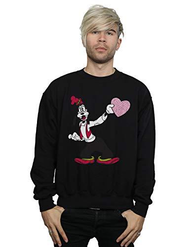 Love Goofy Heart shirt Disney Homme Noir Sweat zTWxnZa