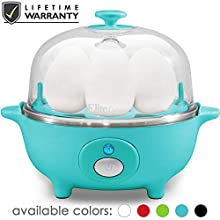 Maxi-Matic EGC-007T Easy Electric Egg Poacher, Omelet & Soft, Medium, Hard-Boiled Measuring Cup Included, 7 Capacity, Teal