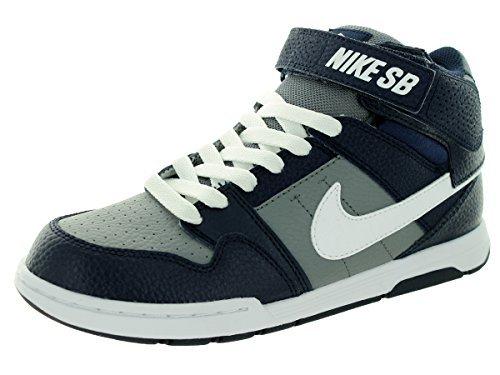 Nike Boys' Mogan Mid 2 JR Skate Shoe Cool Grey/White/Obsidian 11 M US Little Kid