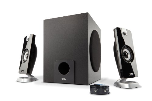 Cyber Acoustics (CA-3090) 18W Computer Speakers with Subwoofer Amplified Computer Speakers