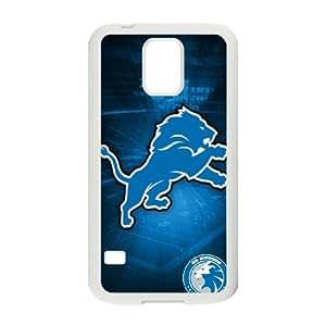 Detroit Lions Team Logo Samsung Galaxy S5 Cell Phone Case White 218y3-138206