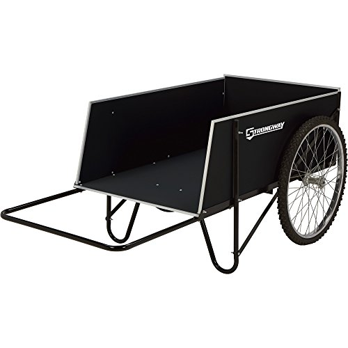 Strongway Yard Cart - 49 1/4in.L x 31in.W, 400-lb., 14 Cu. Ft. Capacity