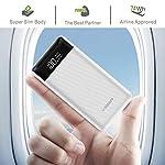 Veger W2019 Digital LCD Display 20000 mAh Li Polymer Power Bank (White)