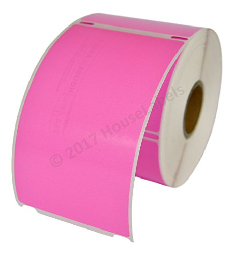 1 Roll; 300 Labels per Roll of DYMO-Compatible 30256 PINK Large Shipping Labels (2-5/16 x 4) -- BPA Free!