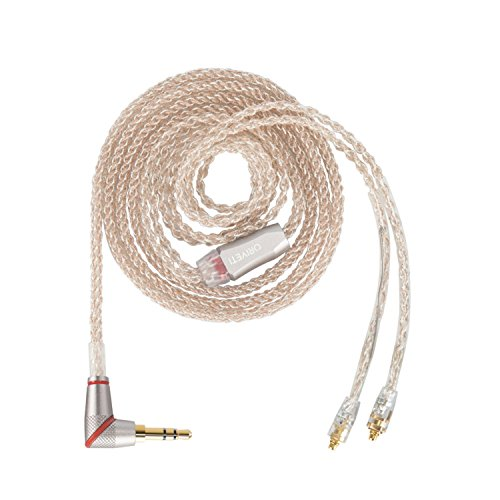 ORIVETI Affinity - Premium OCC (Ohno Continuous Cast) Copper & SPC (Silver Plated Copper) Hybrid 8 cores IEM Replacement/Upgrade Cable (3.5mm Stereo Plug, -