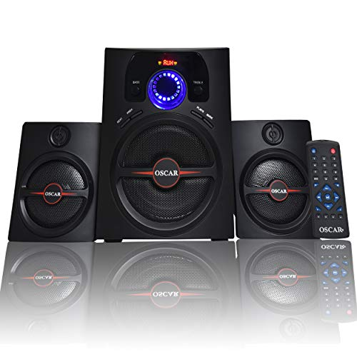 OSCAR OSC 2141 BT 2.1 Multimedia Speakers with Bluetooth, Digital Home Theater System