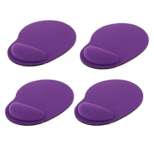 SM SunniMix 4Pack PC Comfort Soft Gel Rest Wrist Support Mat Mouse Pad PSP Gaming Cheap, Purple