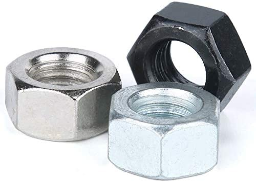 Nologo Hex Nuts Stainless Steel Hex Nuts Metric Thread Hex Nuts 50pcs Colore : Zinc plating steel, Dimensioni : M4