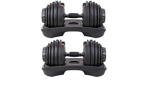 Deportes con mancuernas Pesas grasa, pesas ajustables, inteligente combinación del hogar automático con mancuernas de fitness Peso Dumb Ling, profesional rápido de medida adaptable con mancuernas: 24: Amazon.es: Hogar