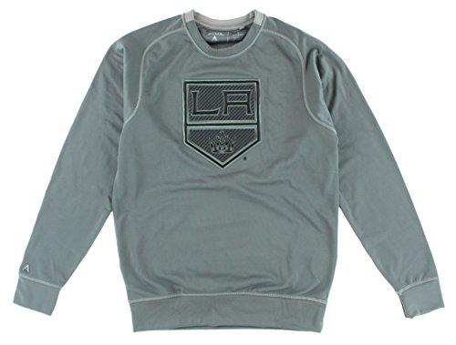 Antigua Mens Los Angeles Kings NHL Carbon Crew Sweatshirt Grey -