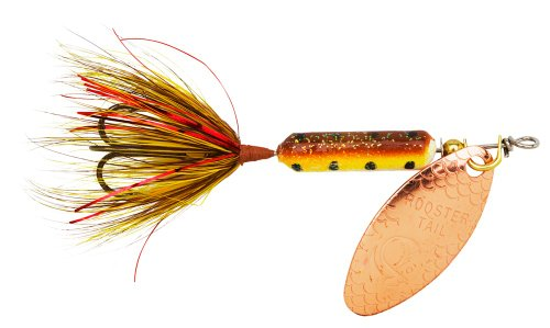 Yakima Bait Wordens Original Rooster Tail Spinner Lure, Copper Tinsel Brown Trout, 1/16-Ounce