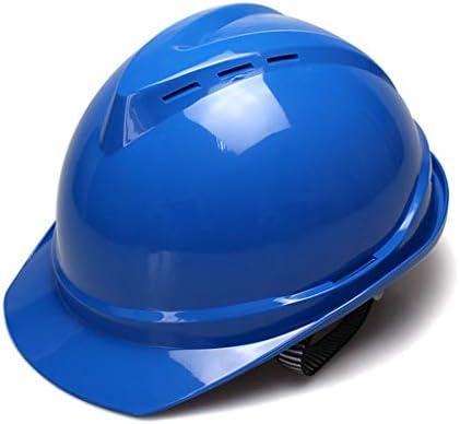 ヘッド保護 建設用ヘルメット - 6点ライニングABS通気性v型ヘルメット 作業安全装置 (色 : オレンジ)