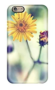 Slim Fit Tpu Protector Shock Absorbent Bumper Yellow Spring Daisy Case For Iphone 6