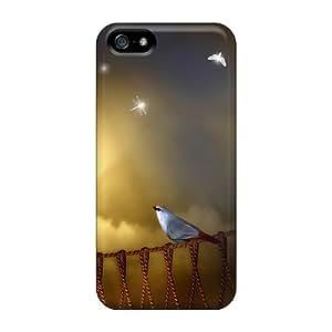 New Iphone 5/5s Case Cover Casing(bird On Rope Bridge)
